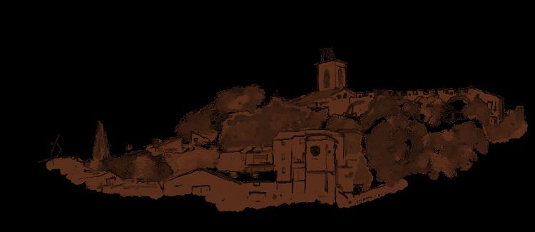 Vue de Châteauneuf-de-Gadagne depuis la chambre d'hôte de charme
