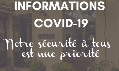 Covid-19 information. Our priority is for everyone to be safe
